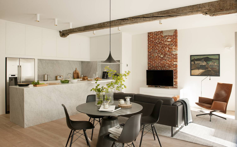 C mo conseguir una cocina abierta al sal n - Salon y cocina integrados ...